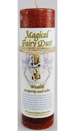Wealth Pillar Candle with Fairy Dust