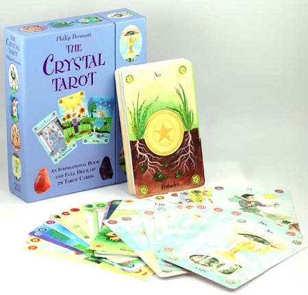Crystal Tarot deck and book