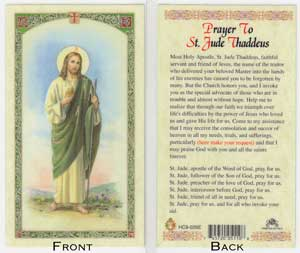 St Jude Prayer Card