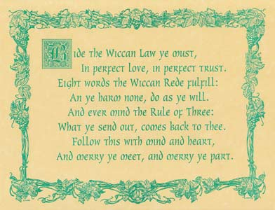 Wiccan Rede (law) poster