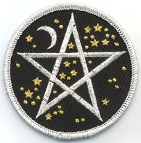 Starry Pentagram iron-on patch 3