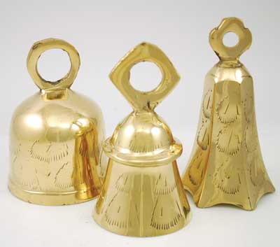Large Clear Toned Brass Bell