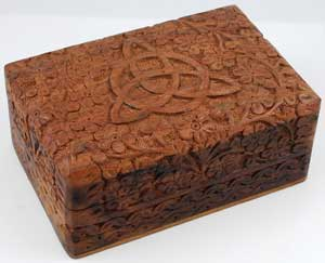 Triquetra Wooden Carved Box 4