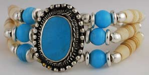Turquoise and Bone