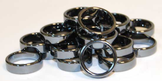 Flat Hematite Rings (20/bag)6mm