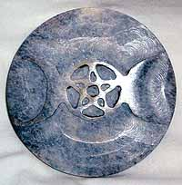 Soapstone Triple Moon tile 3