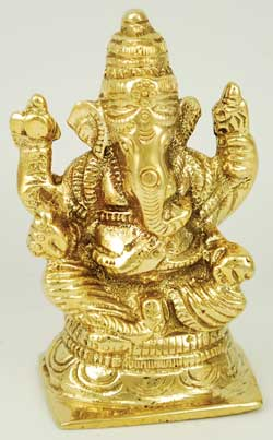 Ganesh Sitting Brass 3