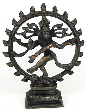 Antiqued Bronze Shiva Dancing 6