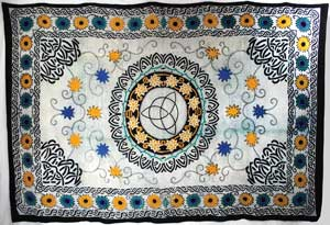 Flower Triquetra Tapestry