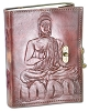 Buddha Leather blank book with Lock