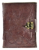 Gryphon Leather Blank Book with Lock