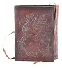 Gryphon Leather Blank Book with Cord