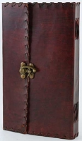 Large 1842 Poetry Leather Blank Book
