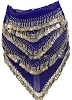 Blue Belly Dancing Scarf