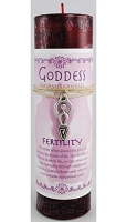 Fertility Pillar Candle with Goddess