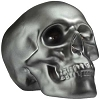 Brushed Pewter Skull bank