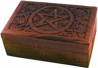 Carved Pentagram Box