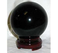 Black crystal ball 80mm