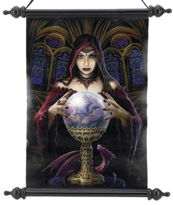 Anne Stokes Crystal ball wall scroll