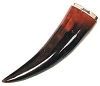 Open Ended buffalo Ceremonial Horn, Red