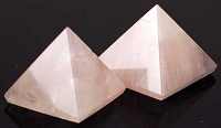 Rose Quartz Crystal Pyramid 25-30mm
