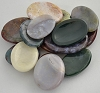 Jasper Worry Stone  Various Colors & Patterns