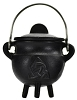 Triquetra Cast Iron Cauldron w/ Lid 2 3/4