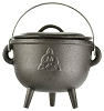 Triquetra Cast Iron Cauldron 5 1/2 inch