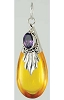 Amber Drop with Amethyst Pendant