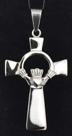 Claddagh Cross stainless steel