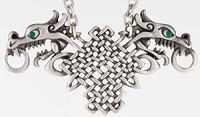 Double Celtic Dragon Necklace