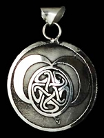 Celtic Moon Pentagram Pendant