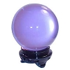 Lavender crystal ball 55 mm