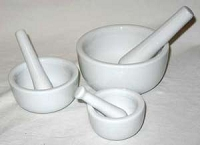 Mortar/Pestle Set of 3 White