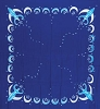 Goddess cloth blue 3' x 3'