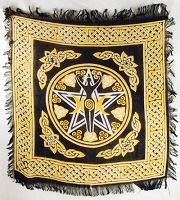 Pentagram Goddess altar cloth 18