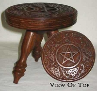 Small Round Pentagram Table 6 inches