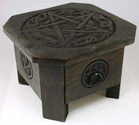 Celtic Pentagram altar table 7 1/2