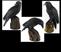 Three Ravens Statues