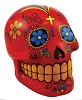 Red Day of the Dead Skull Bank