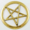 Brass Cut-Out Pentagram 3