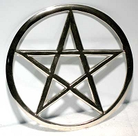 Cut-Out Pentagram altar tile 5 3/4
