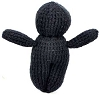Black Poppet Voodoo Doll Hand Made