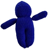 Blue Poppet Voodoo Doll Hand Made