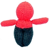 Red Black Poppet Voodoo Doll hand made
