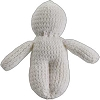 White Poppet Voodoo Doll Hand Made