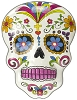White Day of the Dead Wall Plaque