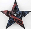 Twin Dragons Pentagram Wall Hanging
