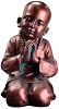 Praying Monk Statue