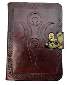 Goddess leather blank book w/ latch